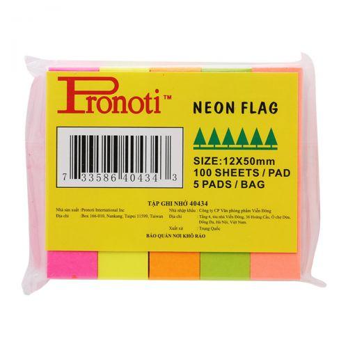 Giấy note 5 màu Pronoti Neon Flag 40434 12 x 50mm